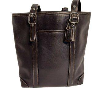 Coach Hampton Medium Leather Tote Shoulder Bag